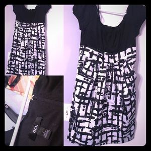 Like new black and white BCX dress